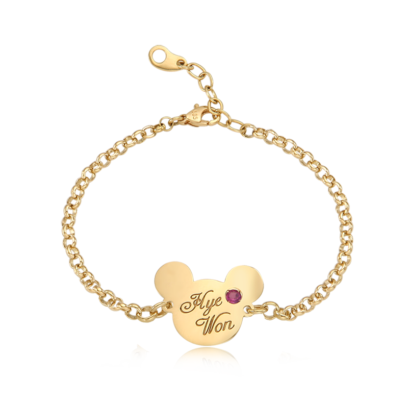 14K / 18K Gold Elin Bear Anti-lost Bracelet