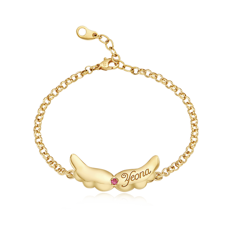 14K / 18K Gold Baby Angel Bracelet