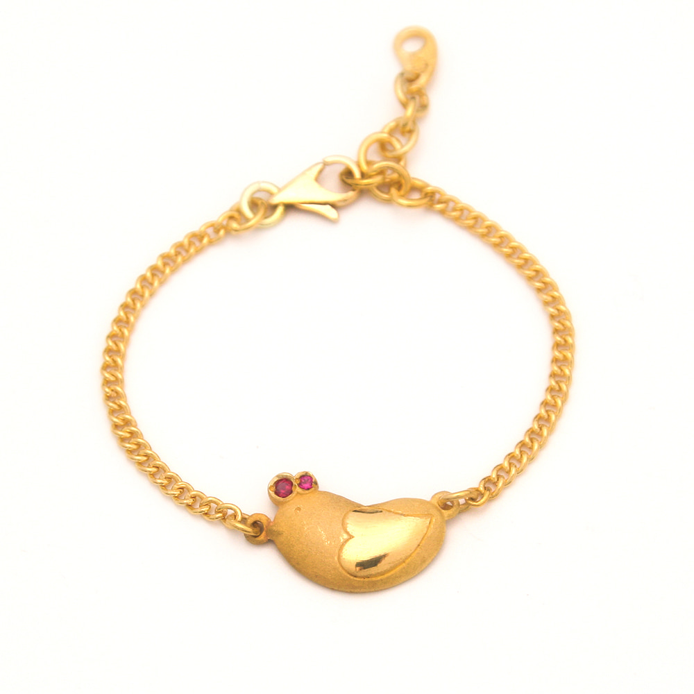 Pure gold 7.5g + 18k Decorative Cayenne Twelve Ganji Rooster Bracelet