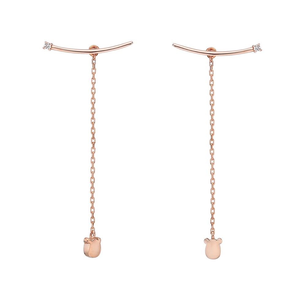 14k Elle Kaiu E1 Earrings No.1-Rat
