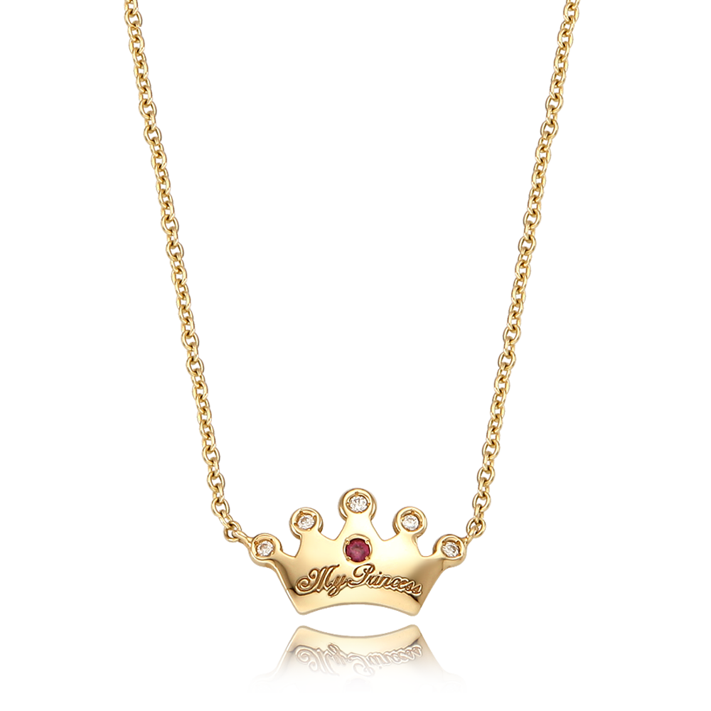 14K / 18K Tiara baby necklace