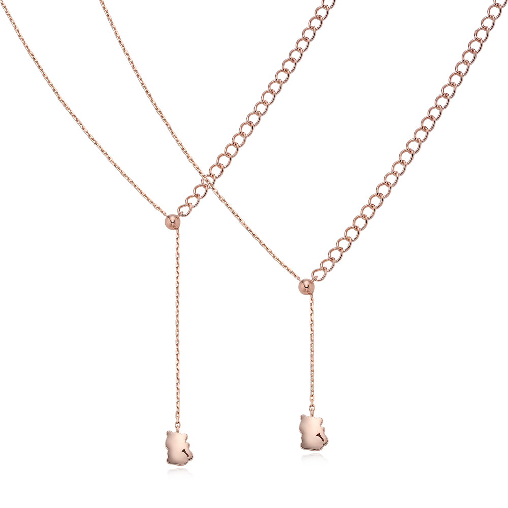 14K Rose Gold Elle Caiille N3 Necklace No.3-Tiger