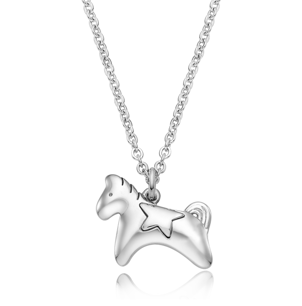[Special plan item] Oriental Zodiac Horse Baby Silver Necklace