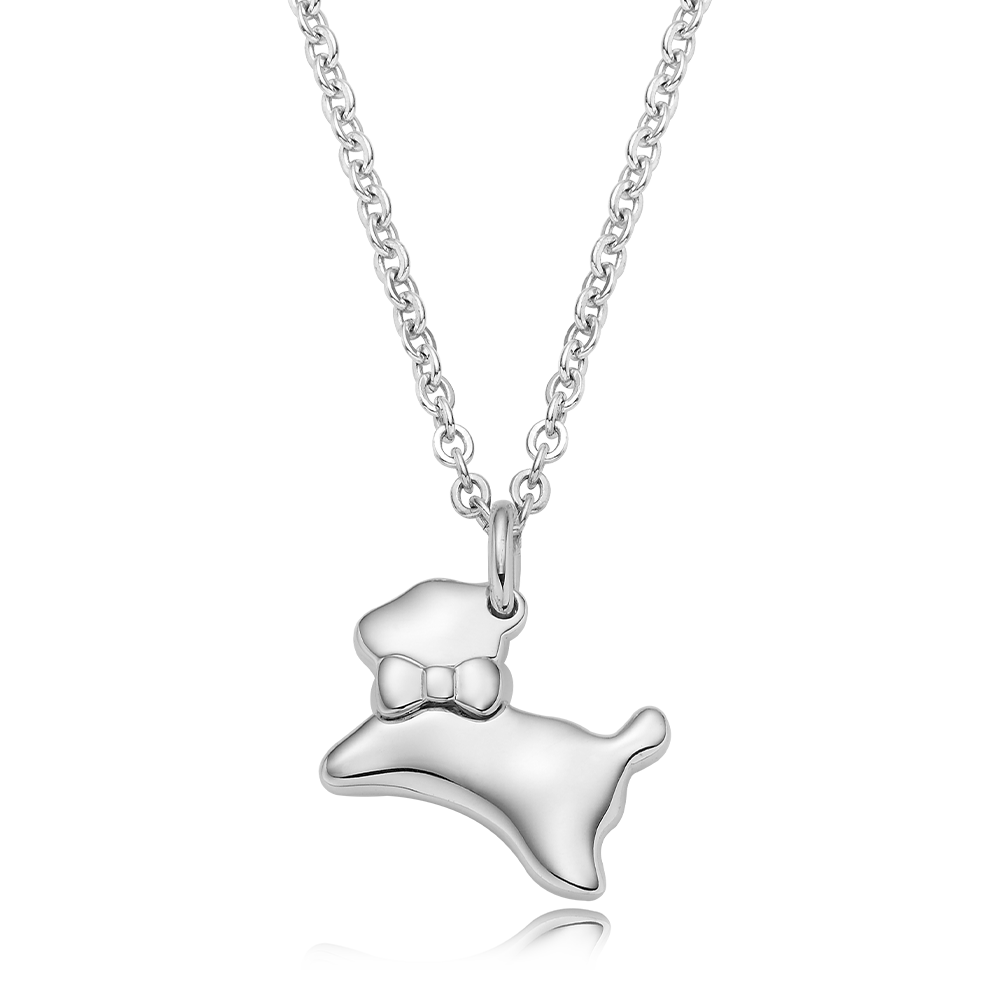 [Special plan item] Oriental Zodiac Dog Baby Silver Necklace