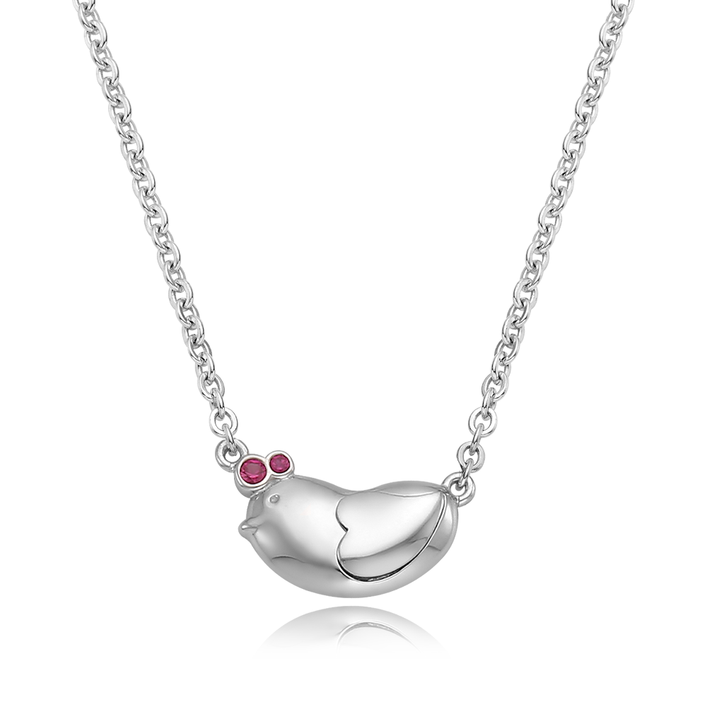[Special plan item] Oriental Zodiac Rooster Baby Silver Necklace