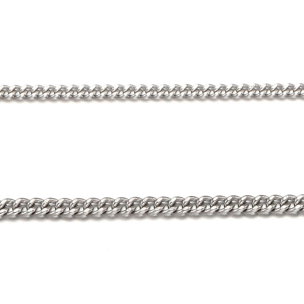 Change to Silver Necklace 2.8mm Curb Chain