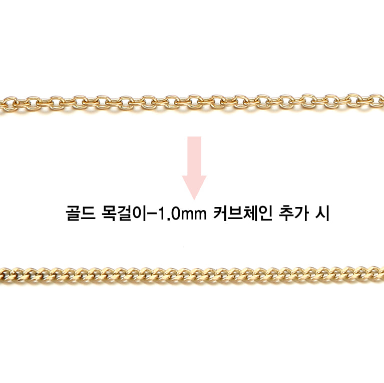 Change to 14k gold necklace 1.0mm Curb Chain