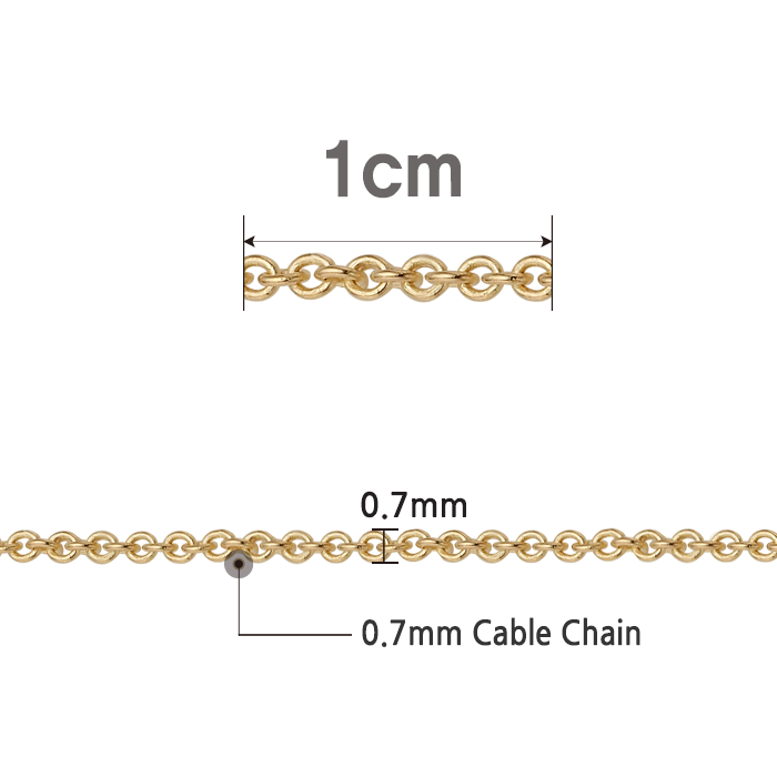 14K /18K 0.7 CableChain Increased 1cm